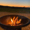 BBQ fire pit - perfect for keeping warm or toasting marshmallows as the sun goes down